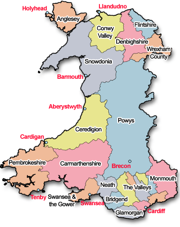 Owners direct wales holidays Wales counties list